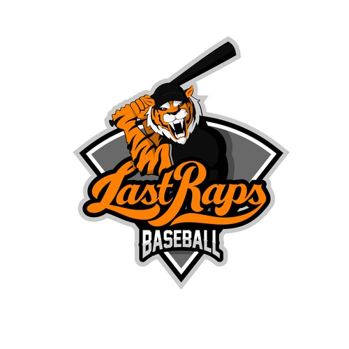 Paw logo with the title 'Baseball Mascot Logo!'