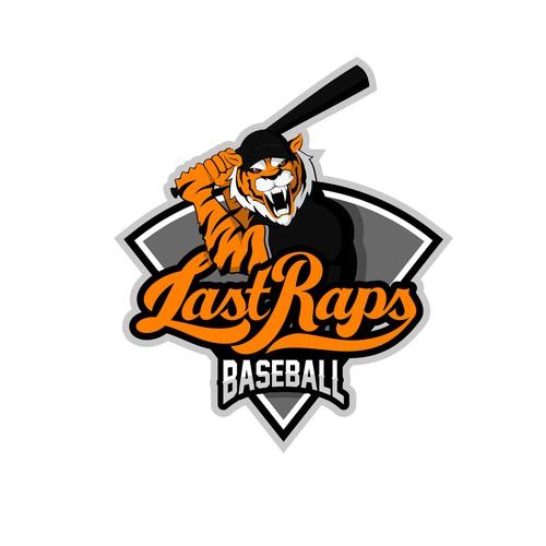 Dog paw logo with the title 'Baseball Mascot Logo!'