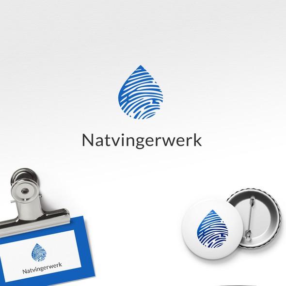 Fingerprint design with the title 'Wet Fingerprint Logo'