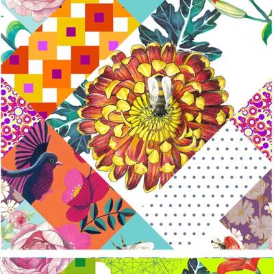 Floral textile pattern