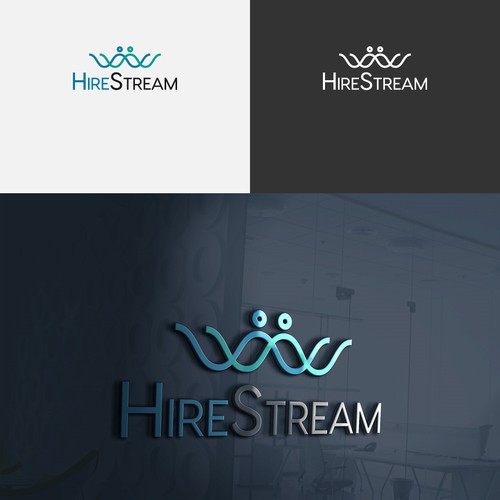 Streaming logo with the title 'modern look foe Hirestream logo'