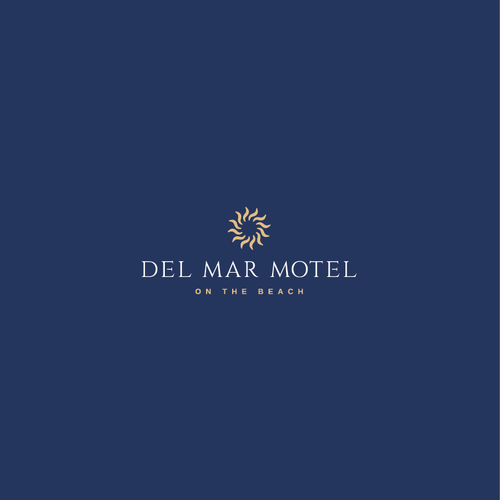 Sun logo with the title 'Del Mar Motel Logo'