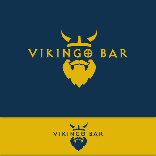 Viking brand with the title 'Viking look a like Logo for a Spanish bar'