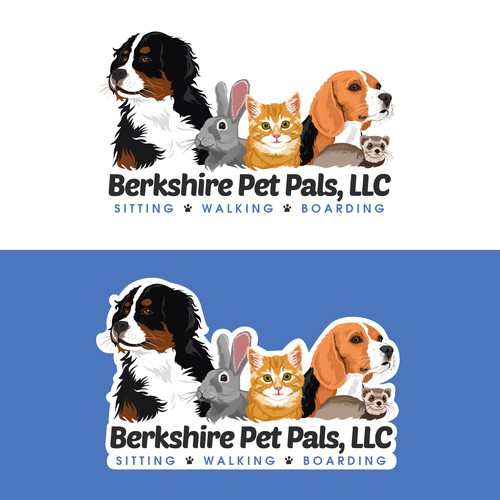 Veterinary logo with the title 'Logo / Website header for Berkshire Pet Pals, LLC'