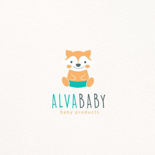 Diaper design with the title 'ALVA BABY'