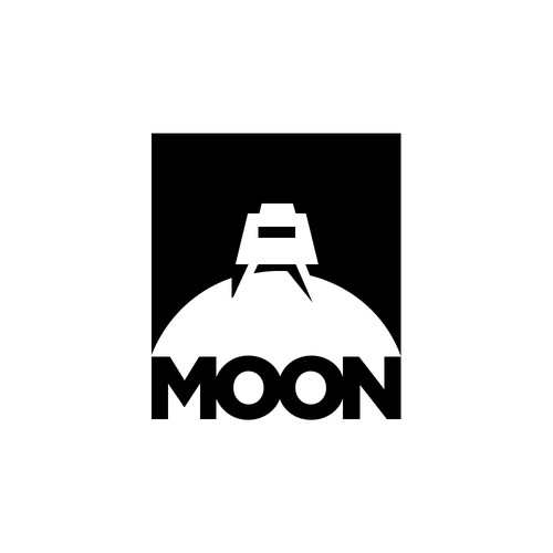 Outerspace design with the title 'Moon'