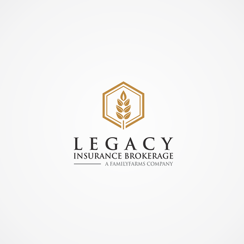 Insurance broker logo with the title 'Clean, sharp, luxurious logo for Legacy Insurance Brokerage'