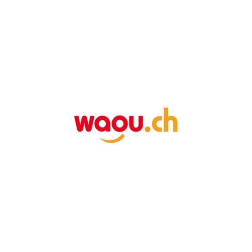 Favicon design with the title 'waou.ch'