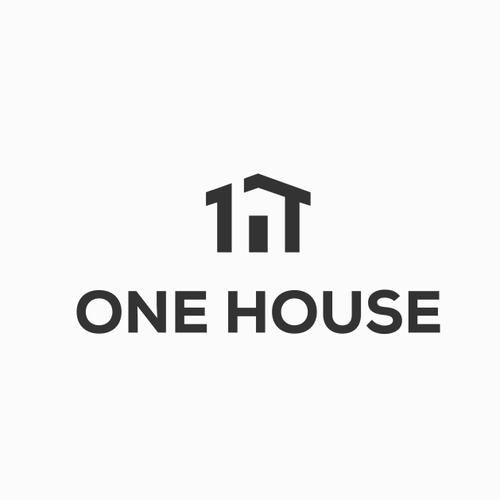 Facade logo with the title 'one house Logo'