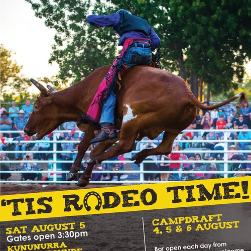 Rodeo design with the title 'Poster for a Rodeo Event'