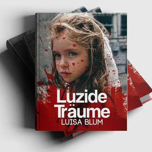 German book cover with the title 'Book cover for a novel'
