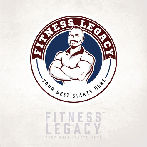 Athletic club logo with the title 'Fitness Legacy'