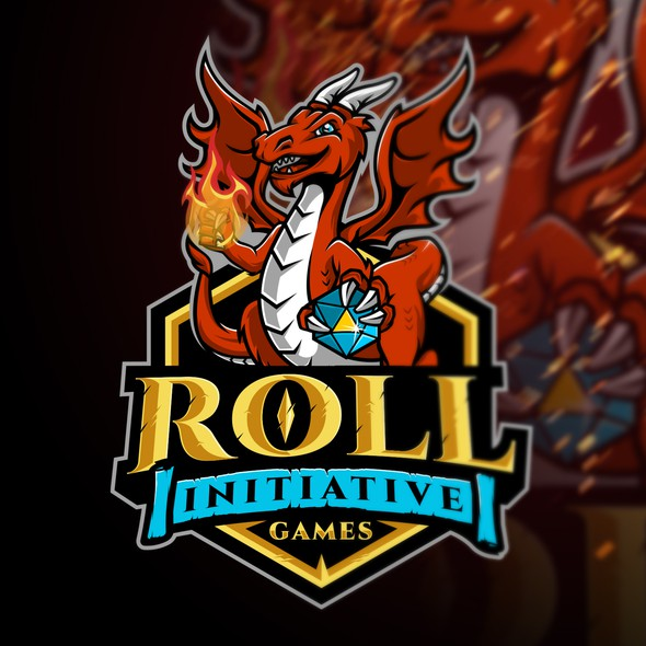 Roll logo with the title 'Roll Initiative Games'