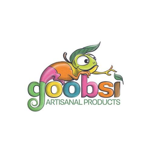 Rainbow design with the title 'goobsi the chameleon'