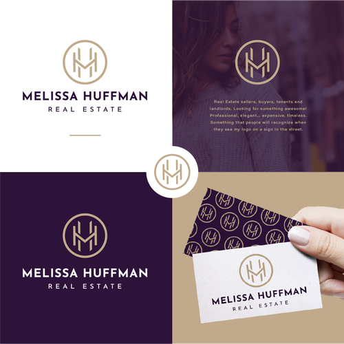 M logo with the title 'Melissa Huffman Real Estate'