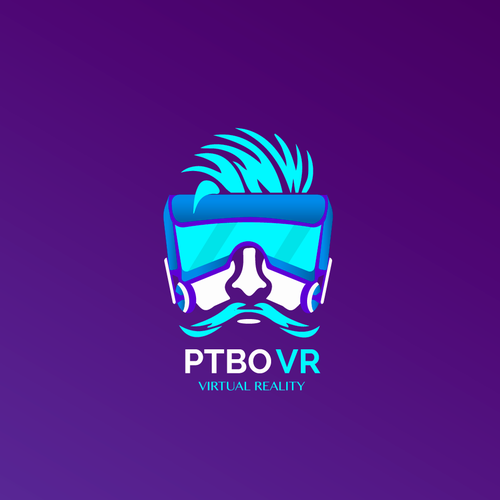 VR design with the title 'Virtual Reality logo'