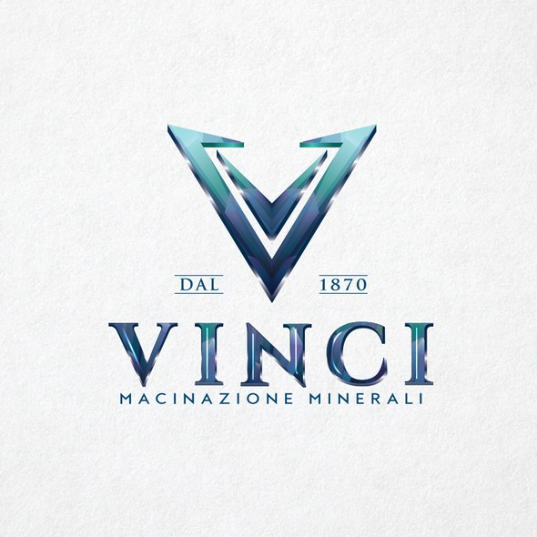 Mineral logo with the title 'Logo design for Vinci'