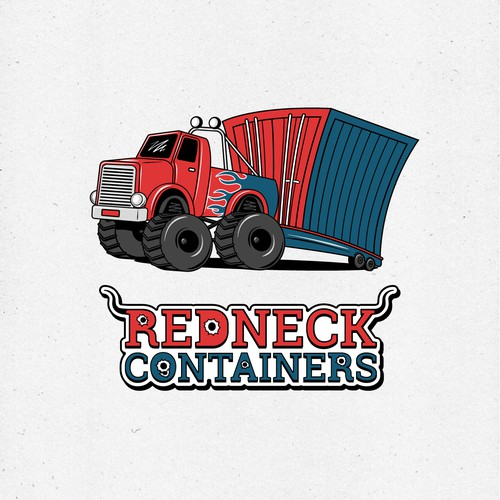 Illustrated logo with the title 'Logo for a shipping container company'