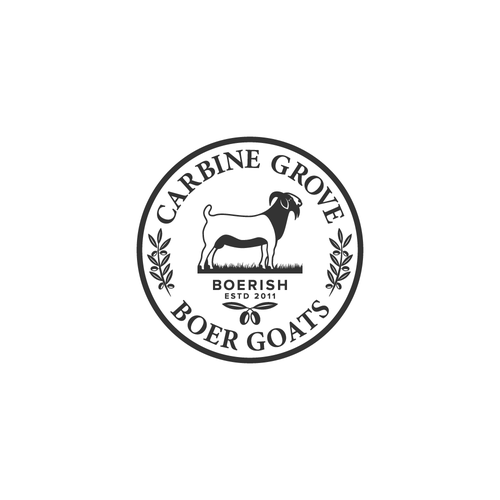 Goat farm logo with the title 'Vintage logo for Carbone Grove'