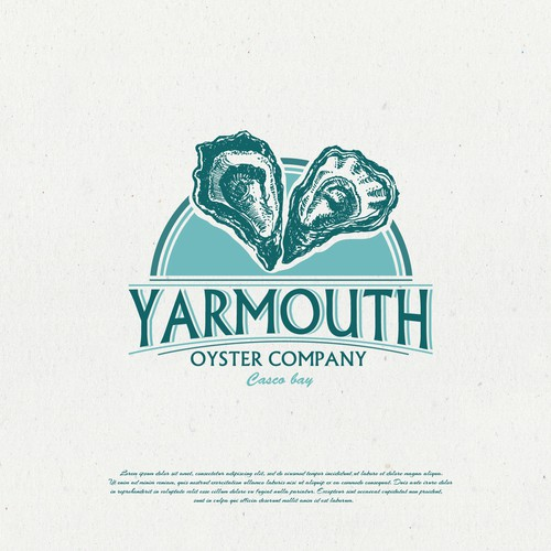 Oyster logo with the title 'Yarmouth oyster company'