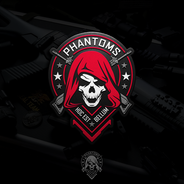 Patch logo with the title 'Logo design for Phantoms'