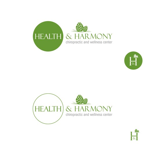 Wellness logo with the title 'health and harmony'