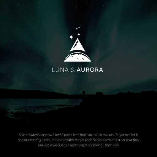 Luna logo with the title 'Clean Minimal Logo for Children hat brand'