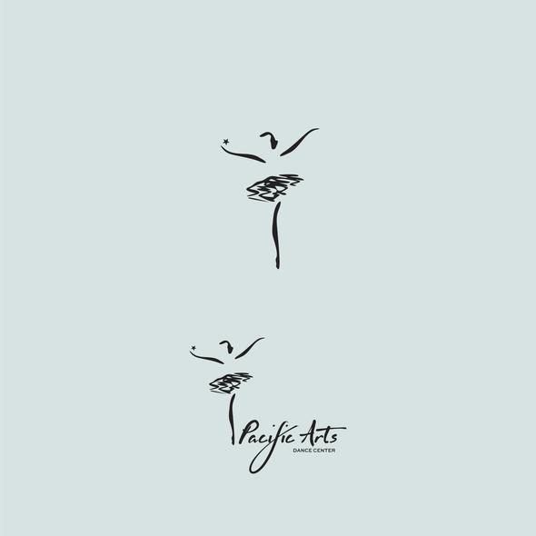 Dancer logo with the title 'Artistic Dance Enterprise Logo'