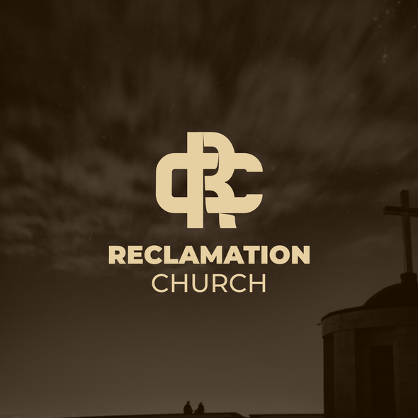 Abstract cross logo with the title 'Reclamation Church'