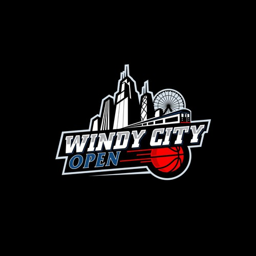 Basketball logo with the title 'Windy City Open'