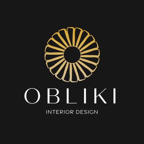 Envelope brand with the title 'Interior Design Logo'