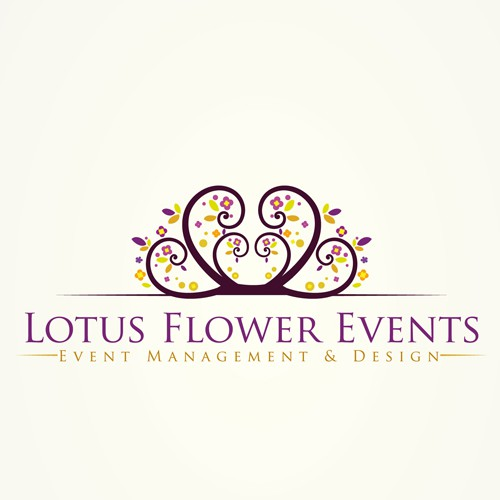 Event design with the title 'Create the next logo for Lotus Flower Events'