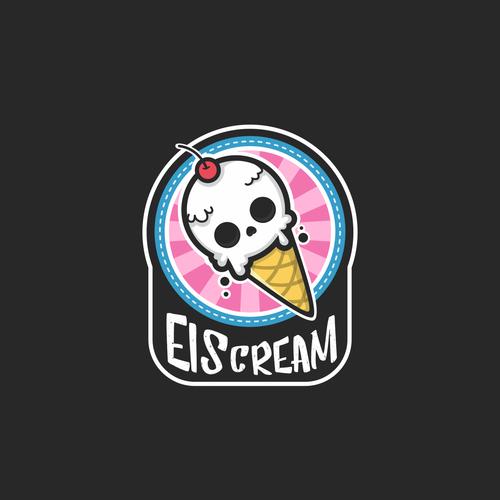 Skeleton logo with the title 'EISCREAM'