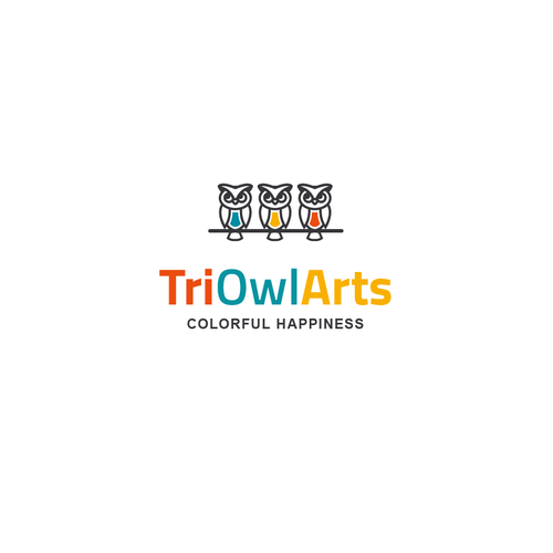 Owl design with the title 'TriOwlArts'