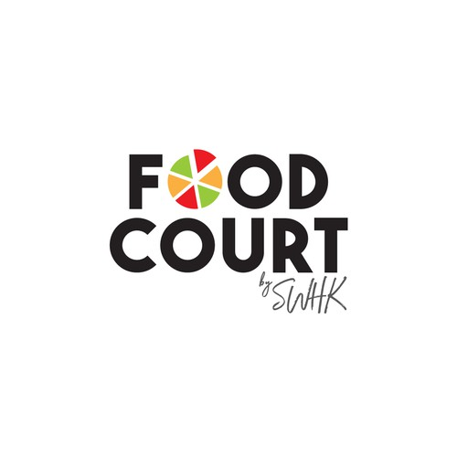 Food service logo with the title 'Logo Design Concept for a Food Delivery Service'