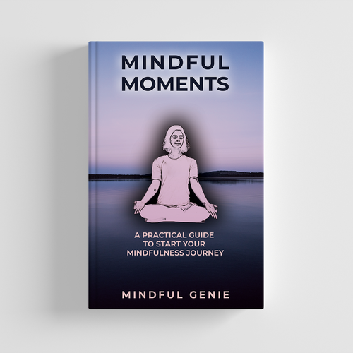 New age design with the title 'Mindfulness and Meditation Book Cover'