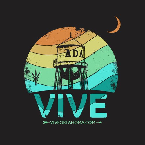 Grunge t-shirt with the title 'Vive Cannabis'