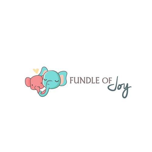 Parent logo with the title 'Fundle of Joy logo design'