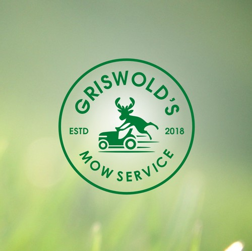 Lawn care logo with the title 'Lawn mowing service needs a competition crushing logo!'
