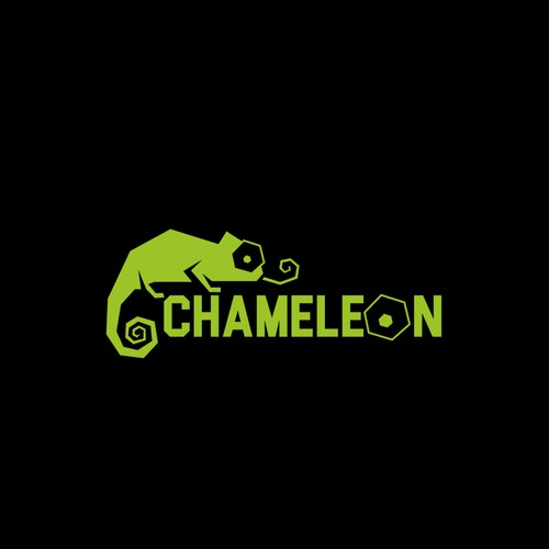 Circuit board design with the title 'Logo design for Chameleon'