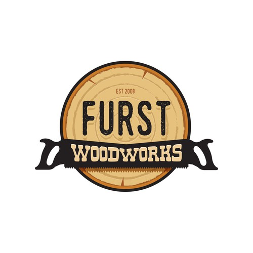 Texture logo with the title 'Logo for Woodworking Companny'