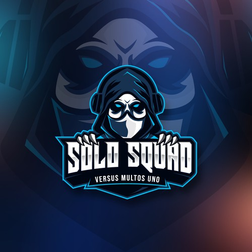 Streamer design with the title 'Solo Squad'