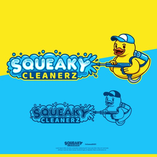 Car wash design with the title 'Squeaky Cleanerz'