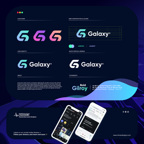 Galaxy logo with the title 'Galaxy'