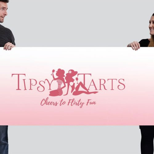 Sister logo with the title 'logo & banner for Tipsy Tarts'