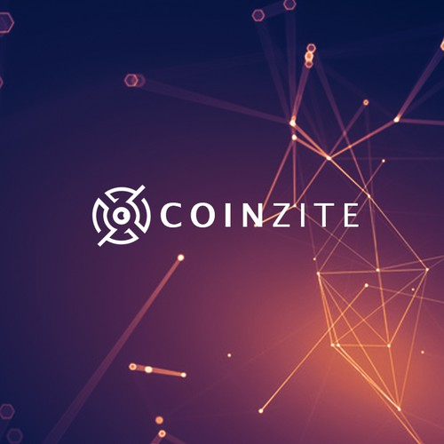 Vision logo with the title 'Coinzite Logo Design'