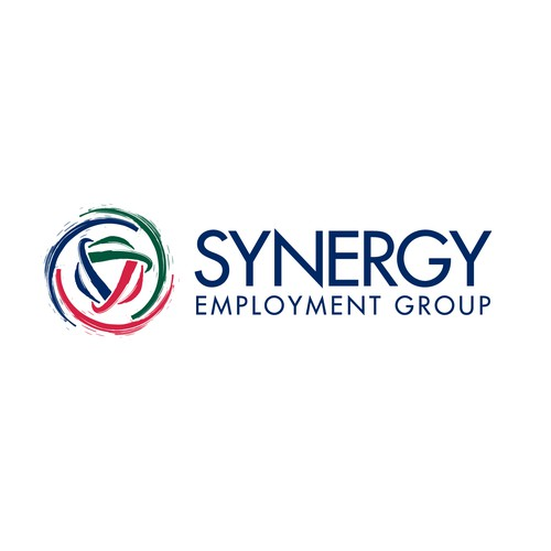 Synergy logo with the title 'Logo design for staffing and recruitment agency'