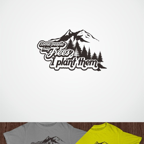 Environment t-shirt with the title 'An illustration for non-profit merchandise'