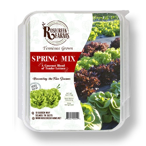 Vegetable label with the title 'Box label design'