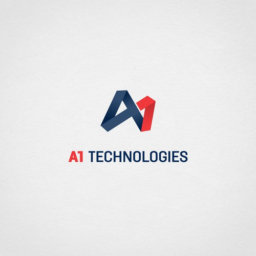Gradient brand with the title 'Interesting logo for technology company'